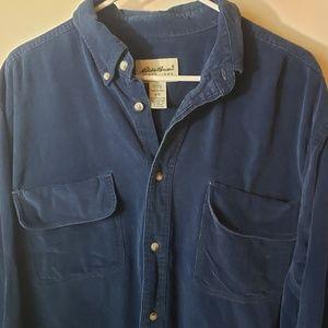 Eddie Bauer Men's corduroy button front shirt sz L